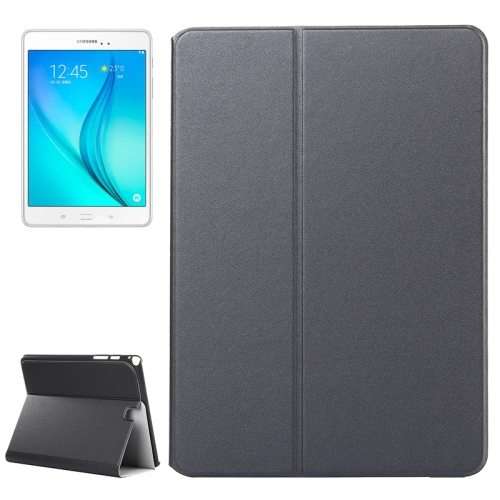 Frosted Pattern Flip Leather Case for Samsung Galaxy Tab A 9.7 with Holder (Grey)