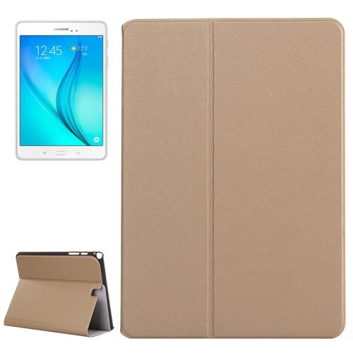 Frosted Pattern Flip Leather Case for Samsung Galaxy Tab A 9.7 with Holder (Gold)