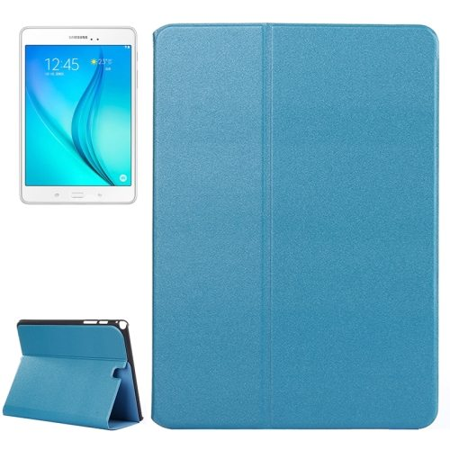 Frosted Pattern Flip Leather Case for Samsung Galaxy Tab A 9.7 with Holder (Blue)