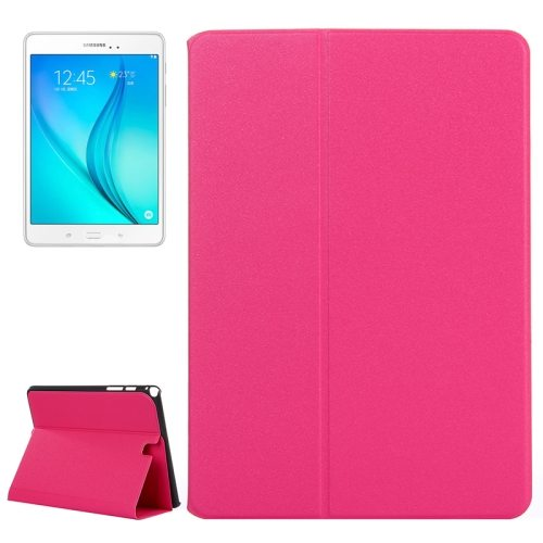 Frosted Pattern Flip Leather Case for Samsung Galaxy Tab A 9.7 with Holder (Magenta)