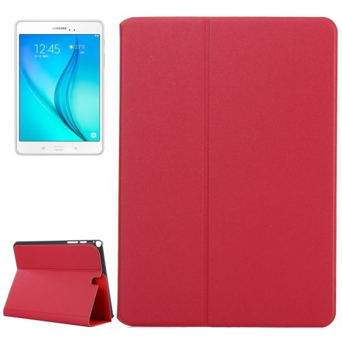 Frosted Pattern Flip Leather Case for Samsung Galaxy Tab A 9.7 with Holder (Red)
