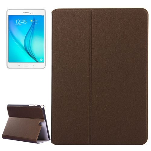 Frosted Pattern Flip Leather Case for Samsung Galaxy Tab A 9.7 with Holder (Brown)