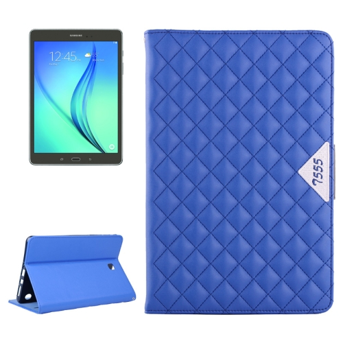 Diamond Pattern Flip Leather Case for Samsung Galaxy Tab A 9.7 with Card Slots and Holder (Blue)