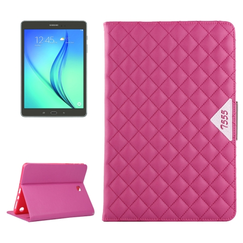 Diamond Pattern Flip Leather Case for Samsung Galaxy Tab A 9.7 with Card Slots and Holder (Rose)