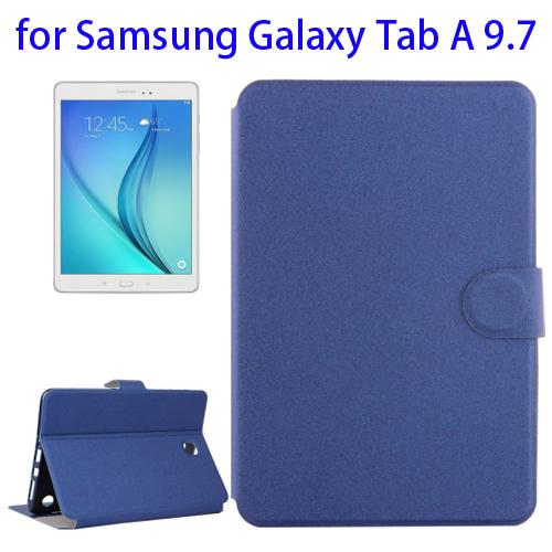 Golden Sands Beach Texture Horizontal Flip Leather Case for Samsung Galaxy Tab A 9.7 (Blue)