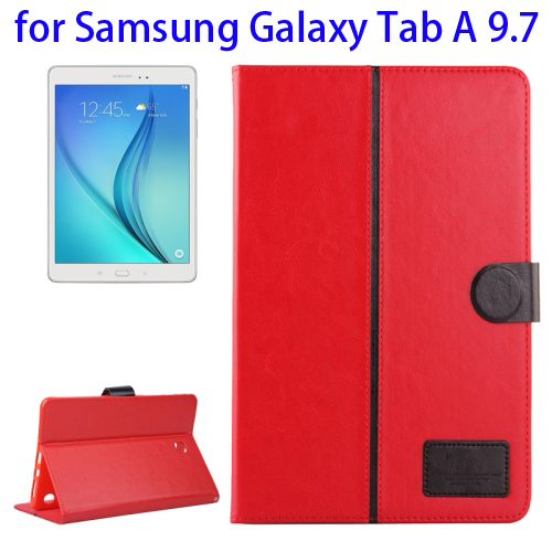 2-Tone Color Crystal Texture Leather Case for Samsung Galaxy Tab A 9.7 (Red)