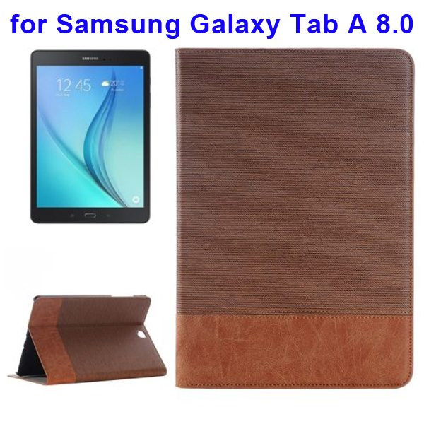 Cross Texture Leather Case for Samsung Galaxy Tab A 8.0 & T350  (Coffee)