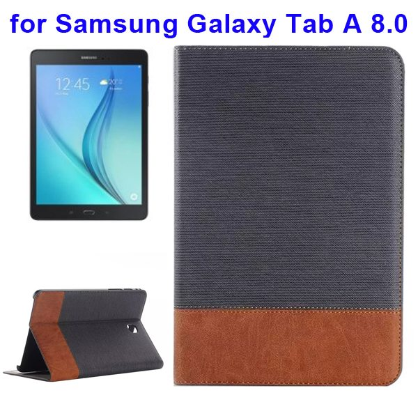 Cross Texture Leather Case for Samsung Galaxy Tab A 8.0 & T350  (Grey)