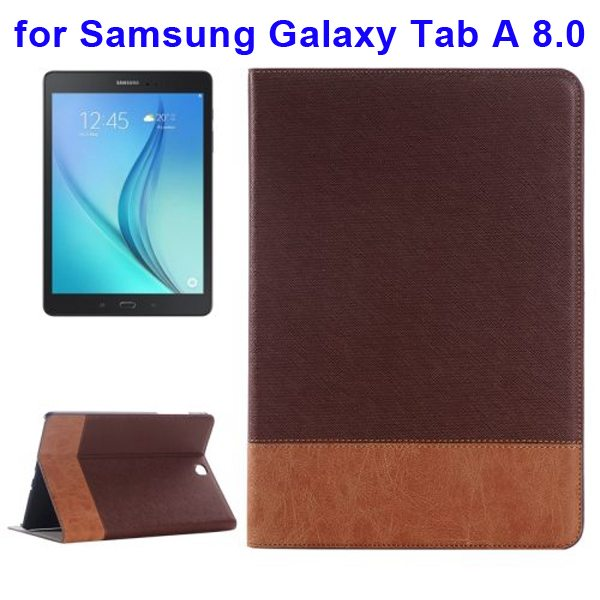 Cross Texture Leather Case for Samsung Galaxy Tab A 8.0 & T350  (Brown)