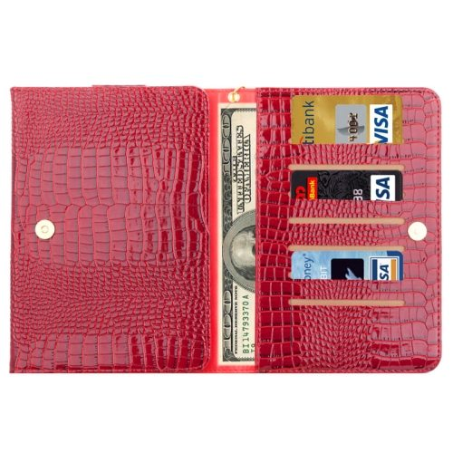 7.0 Inch Universal Crocodile Texture Carry Tablet Cases or Samsung galaxy Tab Q T2558 / T2519 / T2556 (Red)