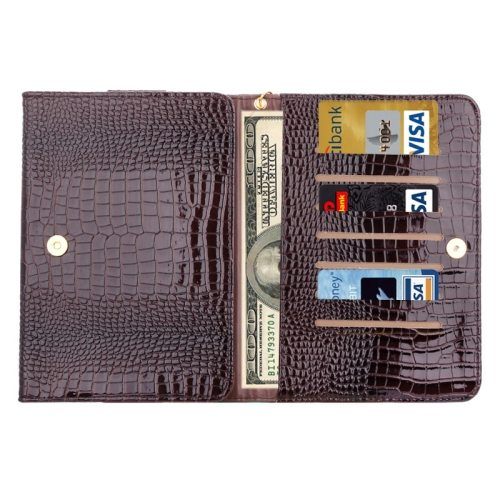 7.0 Inch Universal Crocodile Texture Carry Tablet Cases or Samsung galaxy Tab Q T2558 / T2519 / T2556 (Brown)