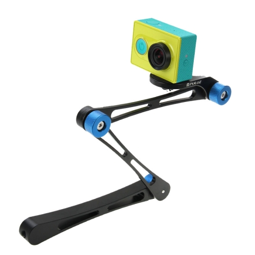 Aluminum Alloy Adjustable Arm Mount Kits With Magenta Screw for Gopro Camera HD Hero 4/ 3+/ 3/ 2/ 1
