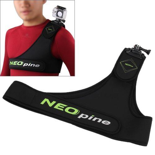 SCM-9 NEOpine GoPro Accessories Harness Chest Belt Single Shoulder Strap Adapter Camera Mount Stabilizer for GoPro Hero4/ 3+ / 3 / 2 / 1