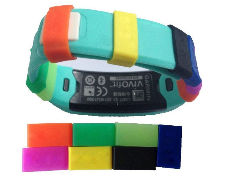 Mixed Color Soft Silicone Fastener Ring for Garmin Vivofit Wristband
