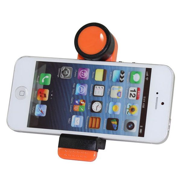 360 Degree Rotatable Universal Car Air Vent Mount Holder (Orange)