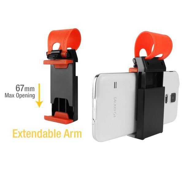 Car Steering Wheel Phone Holder for iPhone 4/4s/5/5c/5c/6, Samsung, etc.