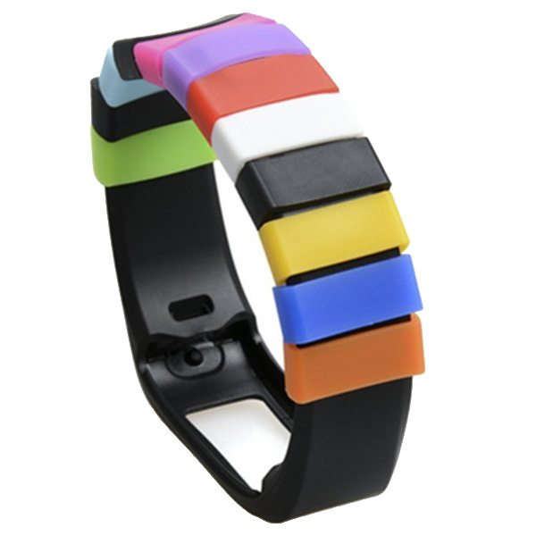 Mixed Color Soft Silicone Fastener Ring for Samsung SM-R350 Wristband