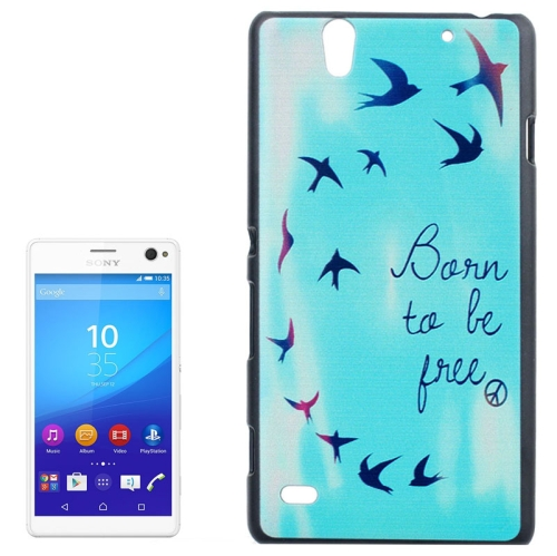 Smooth Surface Protetive Hard PC Case for Sony Xperia C4 (Words and Flying Birds Pattern)