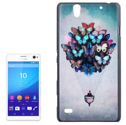 Smooth Surface Protetive Hard PC Case for Sony Xperia C4 (Creative Butterflies Fire Balloon Pattern)