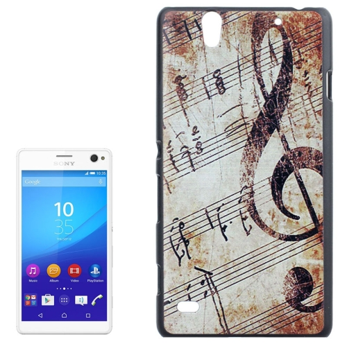 Smooth Surface Protetive Hard PC Case for Sony Xperia C4 (Retro Music Note Pattern)