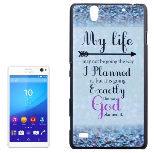 Smooth Surface Protetive Hard PC Case for Sony Xperia C4 (Words and Arrow Pattern)