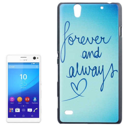 Smooth Surface Protetive Hard PC Case for Sony Xperia C4 (Words and Heart Pattern)