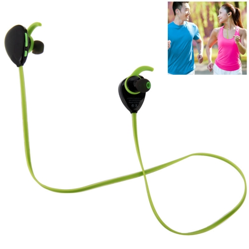 Sport Bluetooth V4.1 Wireless Headset with MIC for iPad / iPhone / Samsung / Nokia / HTC / Xiaomi (Green)