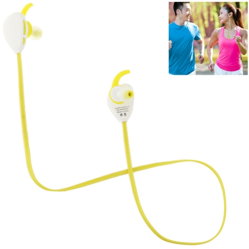 Sport Bluetooth V4.1 Wireless Headset with MIC for iPad / iPhone / Samsung / Nokia / HTC / Xiaomi (Yellow)
