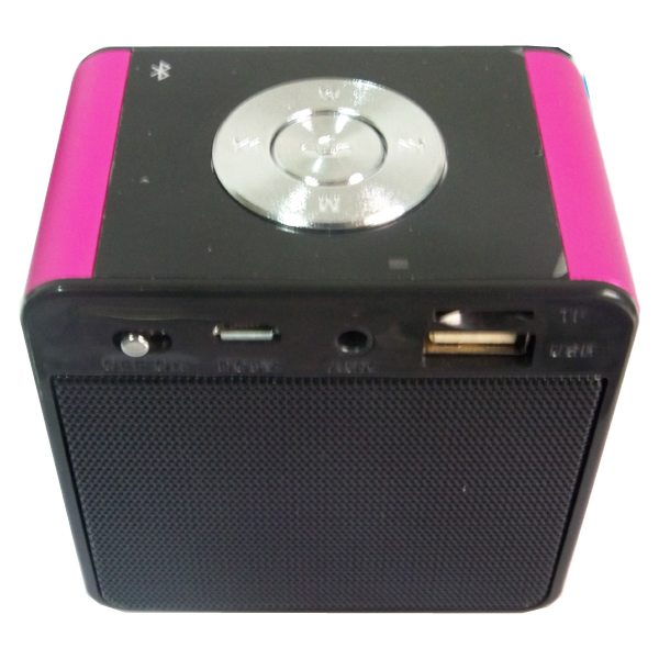 Portable Mini Bluetooth Speaker for Mobile Phones, Laptop, etc Support TF Card, Hands Free Call, FM Radio (Rose+Black)