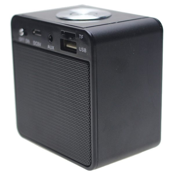 Portable Mini Bluetooth Speaker for Mobile Phones, Laptop, etc Support TF Card, Hands Free Call, FM Radio (Black)