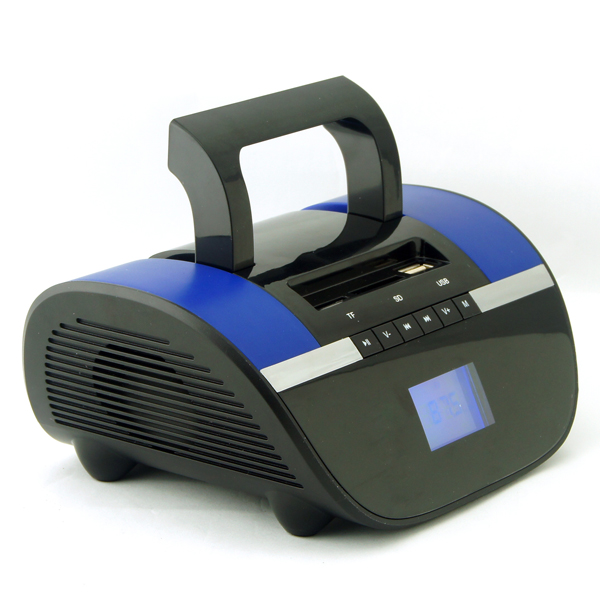 Hand-held Style Outdoor Wireless Bluetooth TF Card Speaker with FM Radio (Blue)