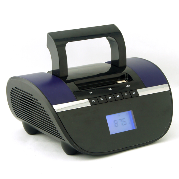 Hand-held Style Outdoor Wireless Bluetooth TF Card Speaker with FM Radio (Purple)