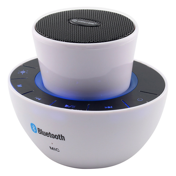 Mushroom Design Portable Bluetooth Mini Speaker with Micphone (White)