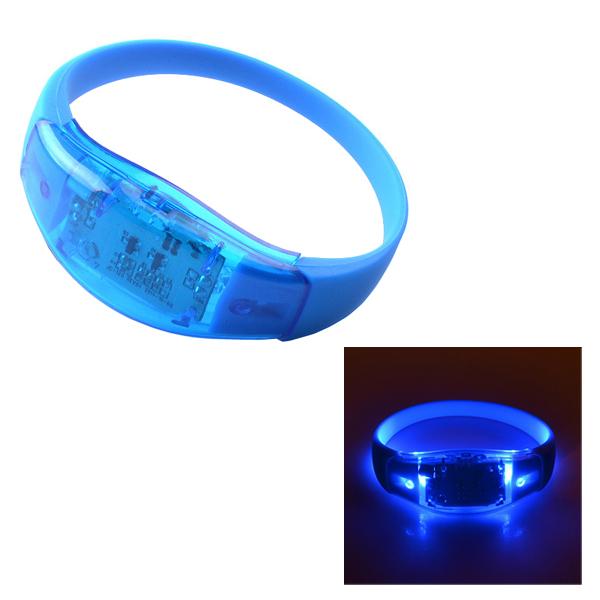 25cm Sound Control Style Silicone Luminous LED Bracelet (Blue)