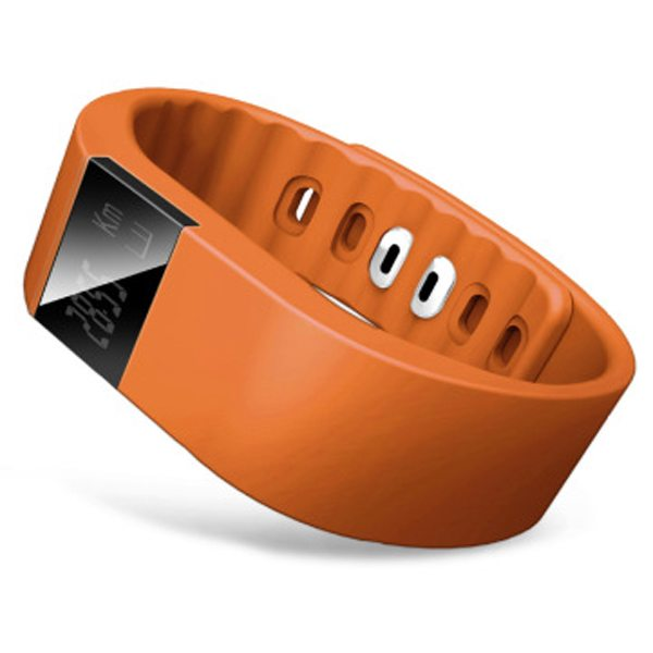 Luxury Sporty Smart Wearable Device Bluetooth Waterproof Wristband with Caller Reminding Function (Orange)