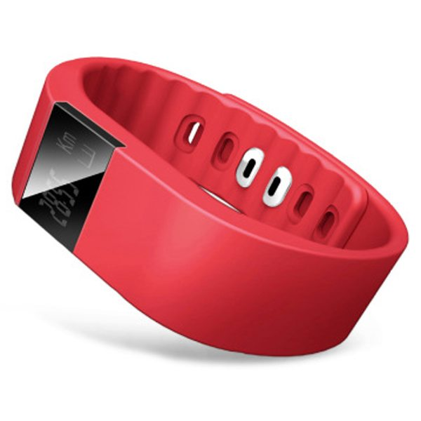 Luxury Sporty Smart Wearable Device Bluetooth Waterproof Wristband with Caller Reminding Function (Red)