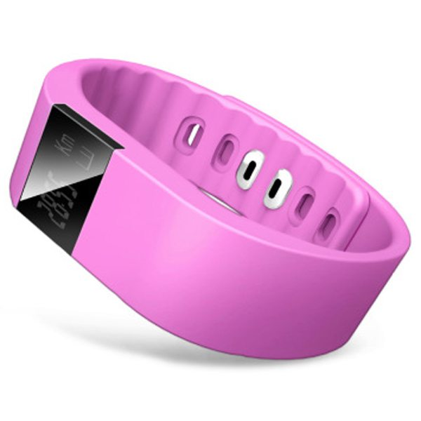 Luxury Sporty Smart Wearable Device Bluetooth Waterproof Wristband with Caller Reminding Function (Rose)