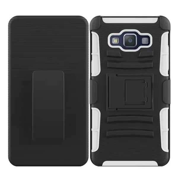 3 in 1 Snap-On Pattern Rugged Protective Hybrid Case for Samsung Galaxy A5 with Kickstand (White)