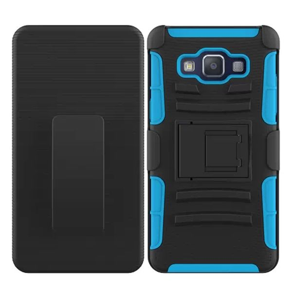 3 in 1 Snap-On Pattern Rugged Protective Hybrid Case for Samsung Galaxy A5 with Kickstand (Baby Blue)