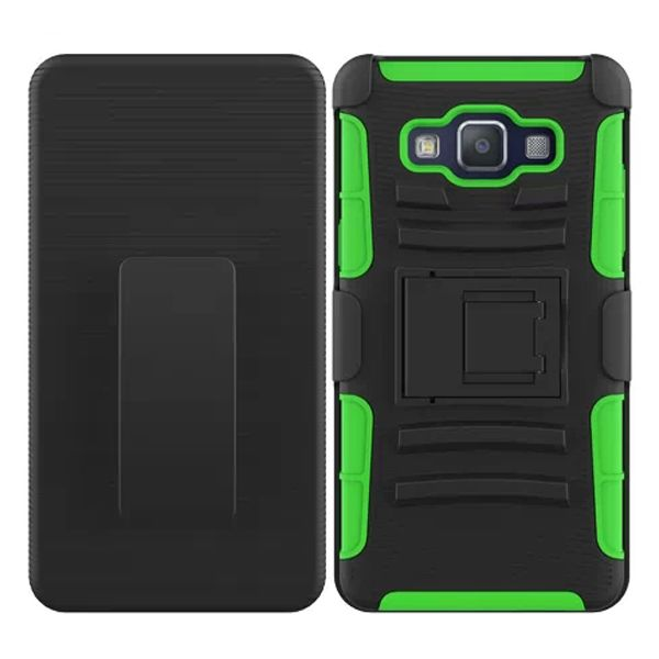 3 in 1 Snap-On Pattern Rugged Protective Hybrid Case for Samsung Galaxy A5 with Kickstand (Green)
