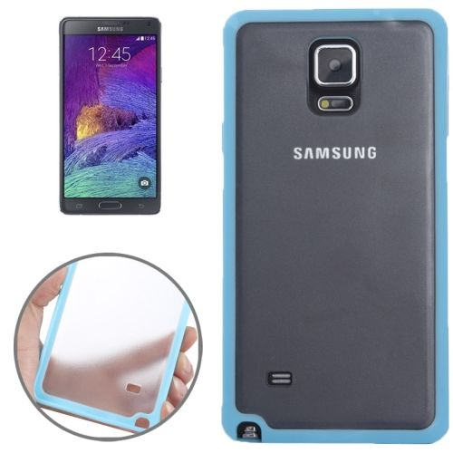 TPU and Transparent Frosted PC Protective Case for Samsung Galaxy Note 4 (Baby Blue)