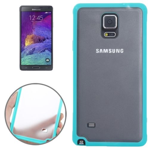 TPU and Transparent Frosted PC Protective Case for Samsung Galaxy Note 4 (Green)