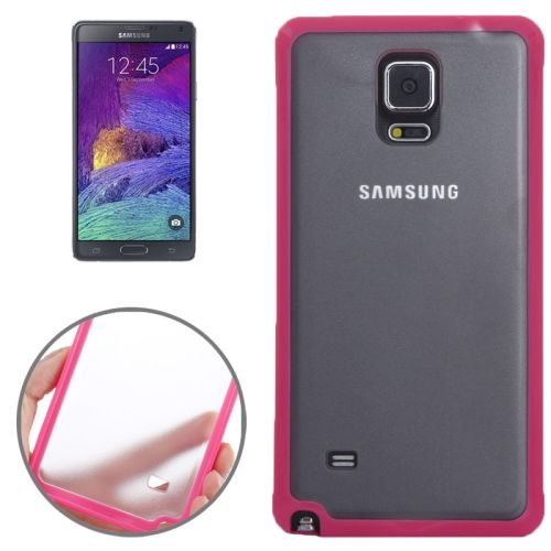 TPU and Transparent Frosted PC Protective Case for Samsung Galaxy Note 4 (Red)