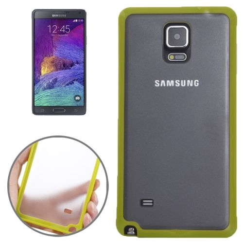 TPU and Transparent Frosted PC Protective Case for Samsung Galaxy Note 4 (Lemon)