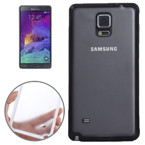 TPU and Transparent Frosted PC Protective Case for Samsung Galaxy Note 4 (Black)