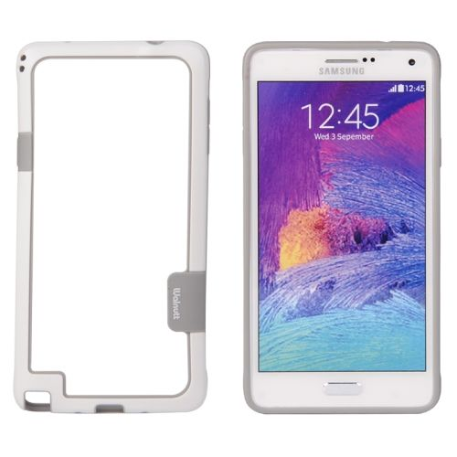 Two-tone Bumper Frame for Samsung Galaxy Note 4 (White)