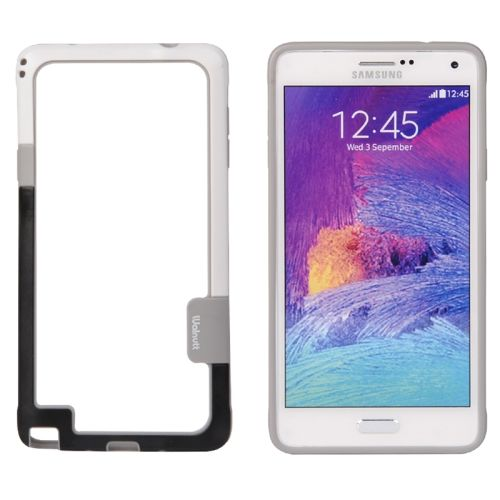 Two-tone Bumper Frame for Samsung Galaxy Note 4 (White and Black)