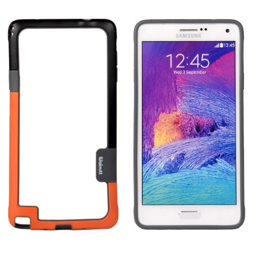 Two-tone Bumper Frame for Samsung Galaxy Note 4 (Black and Orange)