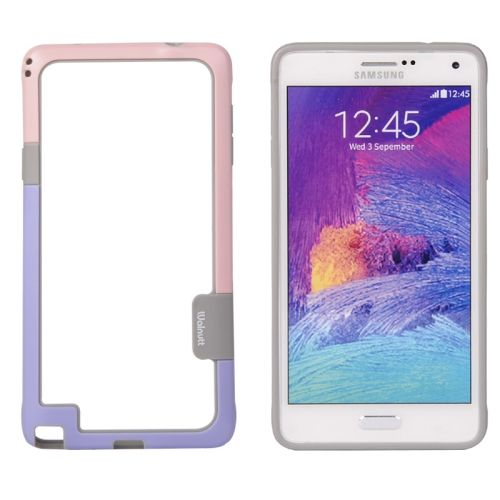 Two-tone Bumper Frame for Samsung Galaxy Note 4 (Pink and Purple)
