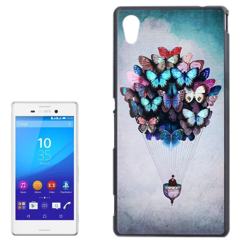Smooth Surface Protetive Hard PC Case for Sony Xperia M4 Aqua (Creative Butterflies Fire Balloon Pattern)